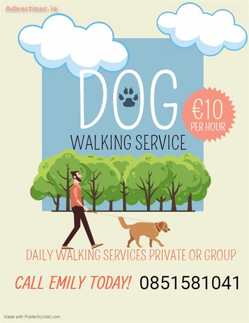 DOG WALKER AVAILABLE , Dogs