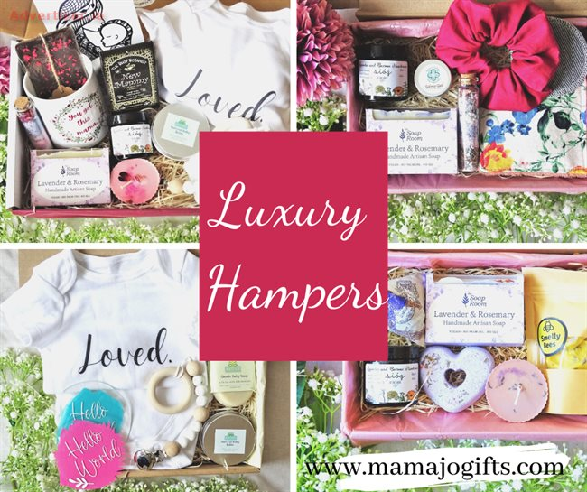 LUXURY HAMPERS FOR HER ANY OCCASION NATURAL, HANDMADE AND IRISH, Hampers