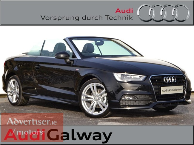 audi a3 cabriolet from 593 per month pcp 2 0tdi 150hp s tronic s line 2015 1 170km cars for. Black Bedroom Furniture Sets. Home Design Ideas