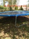 TRAMPOLINE 16 FOOT IN GOOD CONDITION ONE LEG NEEDS REPAIR